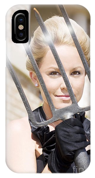 Farm Tool iPhone Case - Woman Giving The Garden Forks by Jorgo Photography - Wall Art Gallery
