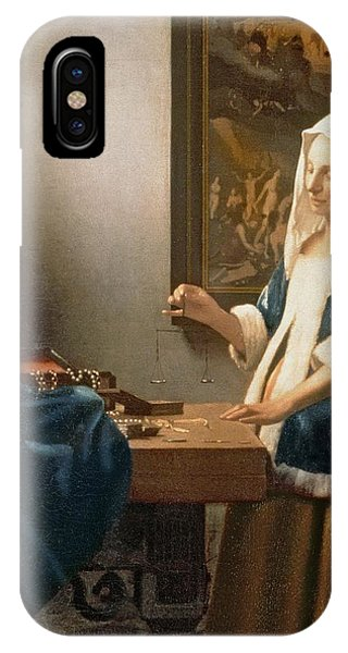 Woman Holding A Balance IPhone Case