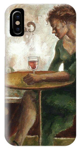 Woman In A Paris Cafe IPhone Case