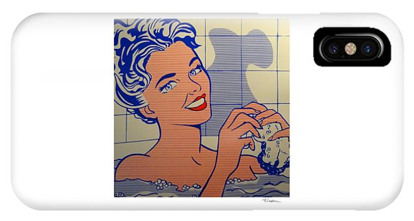 Woman In Bath IPhone Case