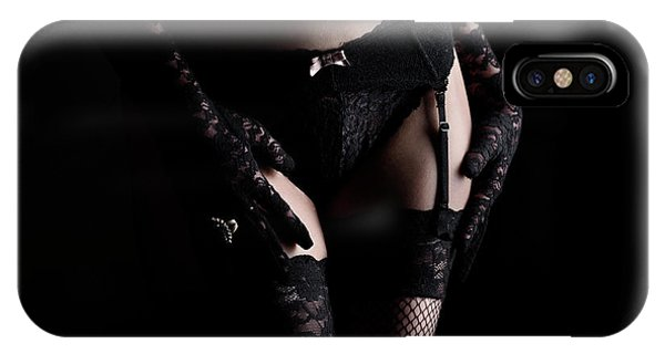 Woman In Laced Lingerie IPhone Case