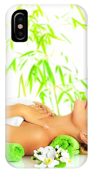 Woman In Spa Salon IPhone Case