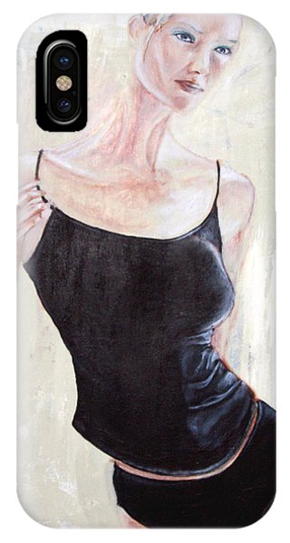 IPhone Case featuring the painting Woman by Keith A Link