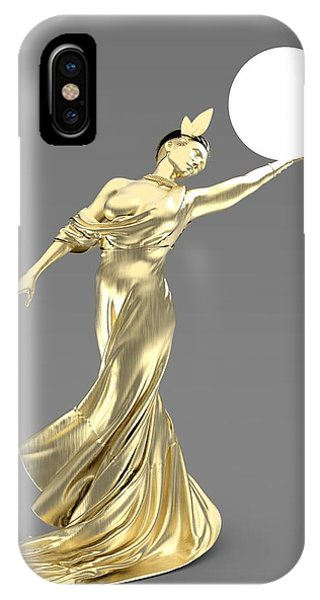 Imagery iPhone Case - Woman Lamp Modernist Style by Joaquin Abella