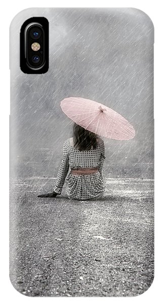Umbrella iPhone Case - Woman On The Street by Joana Kruse
