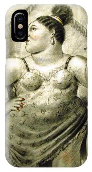 woman performer Botero IPhone Case
