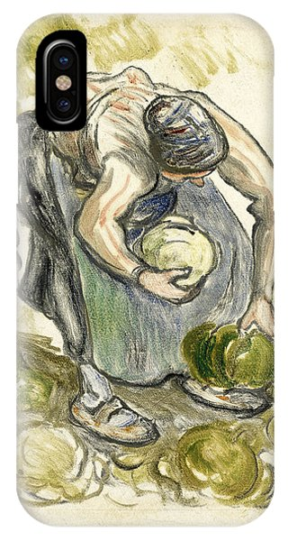 Impressionistic iPhone Case - Woman Picking Cabbage by Camille Pissarro