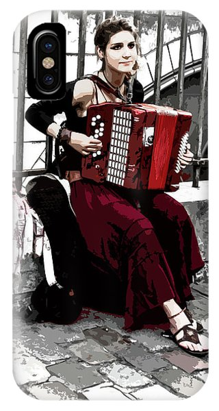 Woman Playing Accordion IPhone Case