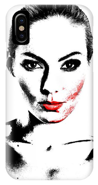 Woman Portrait In Art Look IPhone Case