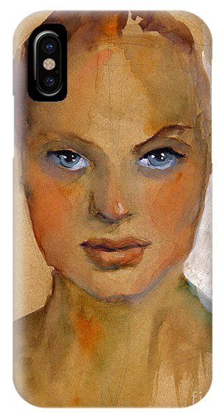 Portraits iPhone X Case - Woman Portrait Sketch by Svetlana Novikova