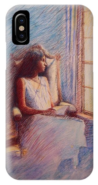 Woman Reading By Window IPhone Case