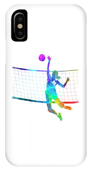 Woman Volleyball Player In Watercolor IPhone Case
