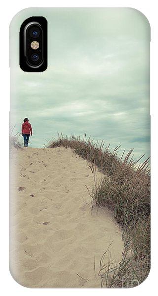 Woman Walking In The Dunes Of Cape Cod IPhone Case