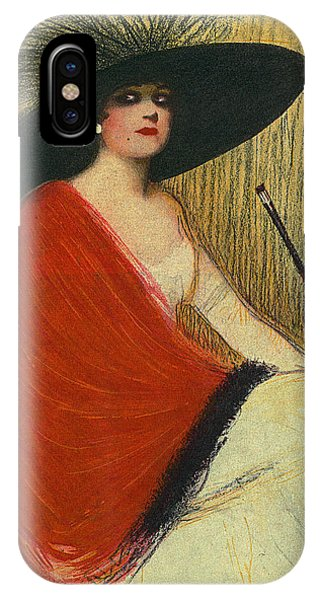 Woman Wearing Hat IPhone Case