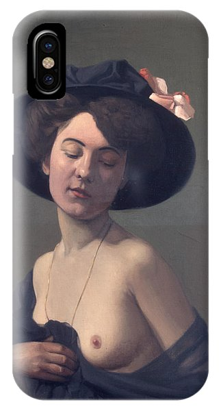 Woman With A Black Hat IPhone Case