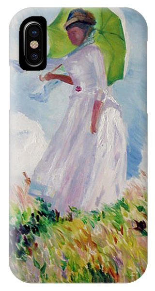 Woman With A Parasol IPhone Case