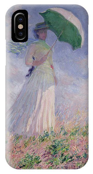 Women iPhone Case - Woman With A Parasol Turned To The Right by Claude Monet