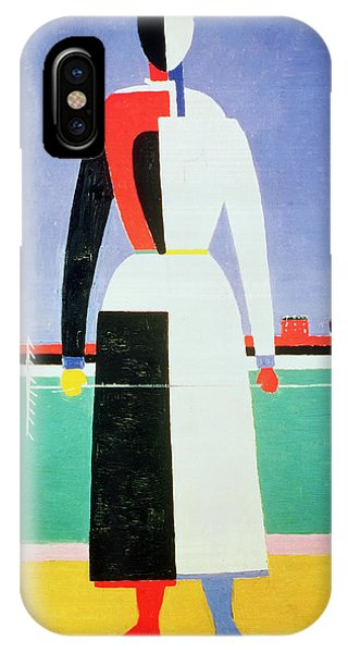 Moscow iPhone Case - Woman With A Rake by Kazimir Severinovich Malevich