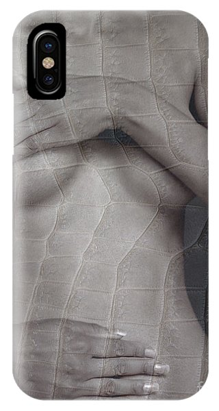 Woman With Hands On Breasts IPhone Case