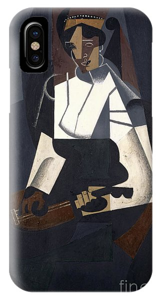 Strum iPhone Case - Woman With Mandolin by Juan Gris
