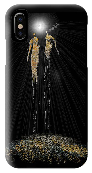 Women Chanting - Full Moon On The Mountain IPhone Case