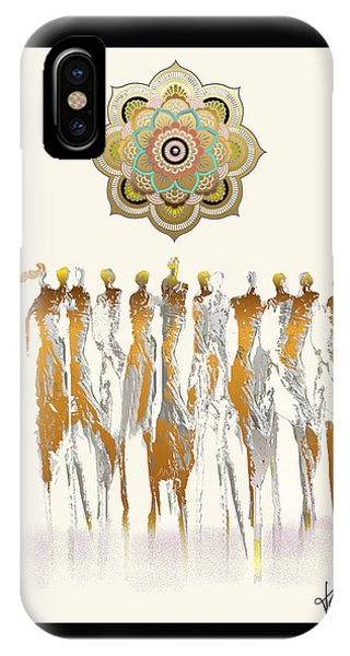 Women Chanting Mandala IPhone Case