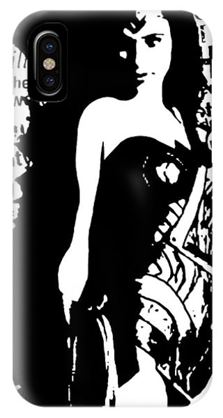 Wonder Woman In The News IPhone Case