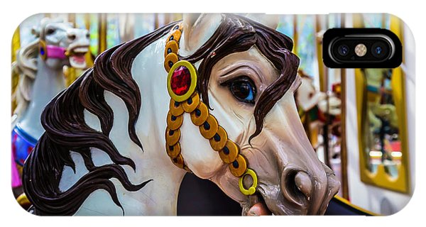 Carousel iPhone Case - Wonderful Carrousel Horse Portrait  by Garry Gay