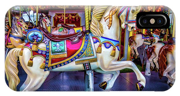 Carousel iPhone Case - Wonderful Carrousel Horse Ride by Garry Gay