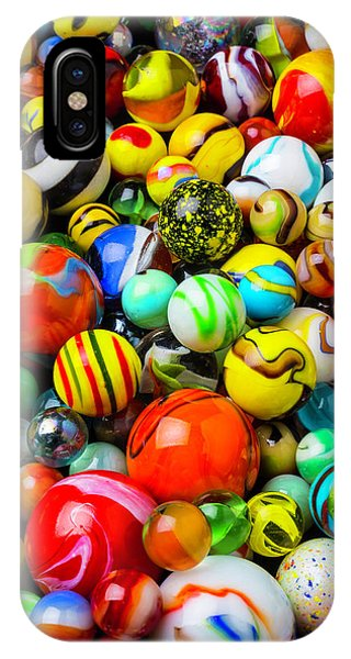 Novelty iPhone Case - Wonderful Colored Marbles by Garry Gay