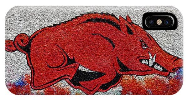 University Of Arkansas iPhone Case - Woo Pig Sooie 2 by Belinda Nagy