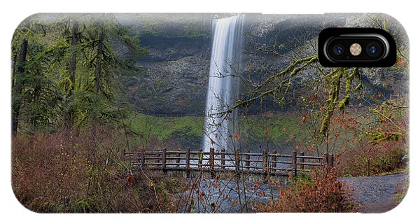 Wood Bridge On Hiking Trail At Silver Falls State Park IPhone Case