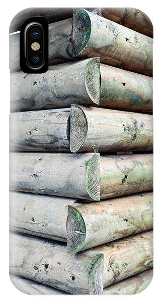 Wood Cabin IPhone Case