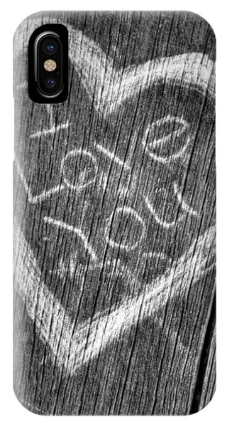 Wood Carving I Love You IPhone Case