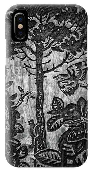 Wood Carving iPhone Case - Wood Carvings by Martin Newman