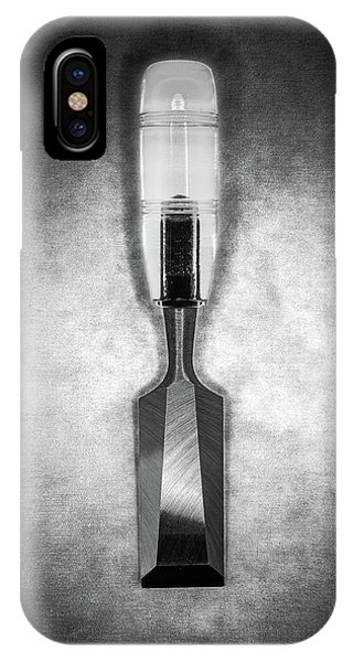 Woodworking iPhone Case - Wood Chisel In Bw by YoPedro