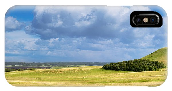 Wood Copse On A Hill IPhone Case