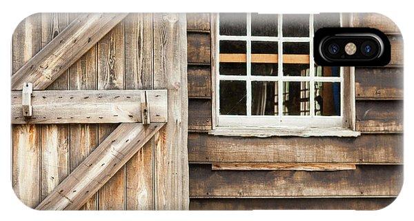 Wood Door And Window IPhone Case