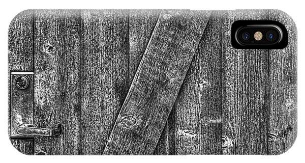 Wood Door With Handle Detail IPhone Case