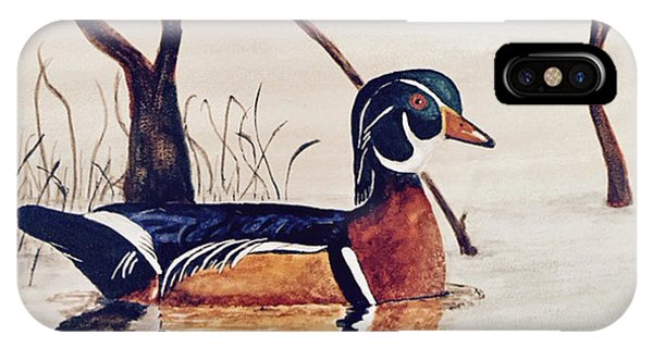 Wood Duck No. 2 IPhone Case