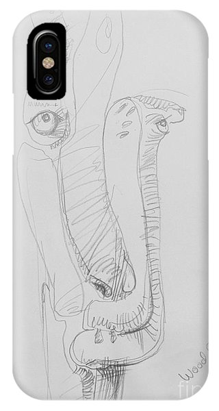 Wood Elemental - Original Drawing By Alice Iordache Phone Case by Iordache Alice