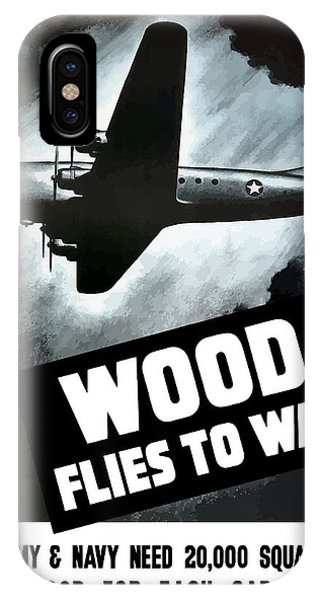 Conservation iPhone Case - Wood Flies To War by War Is Hell Store