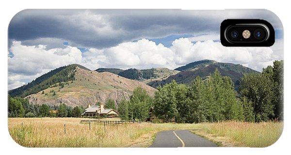 Wood River Bike Path IPhone Case