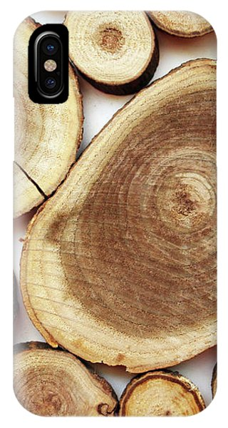 Wood iPhone Case - Wood Slices- Art By Linda Woods by Linda Woods