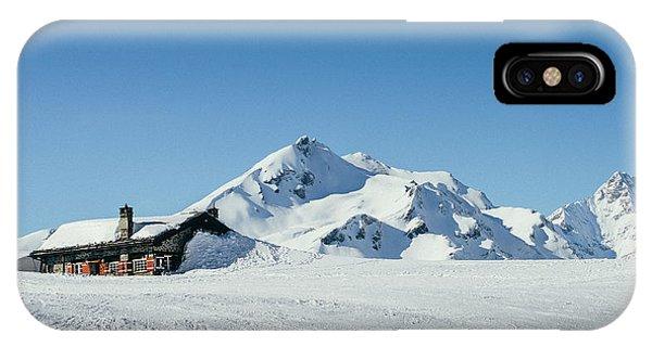 Wooden Alpine Cabin  IPhone Case