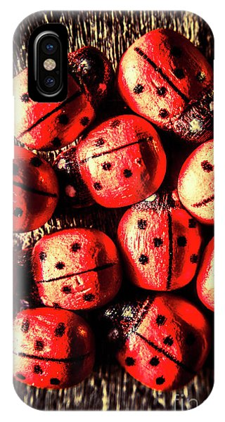 Ladybug iPhone Case - Wooden Beetle Bugs by Jorgo Photography - Wall Art Gallery