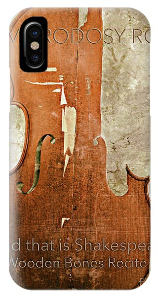 Wooden Bones Recite  Phone Case by Steven Digman
