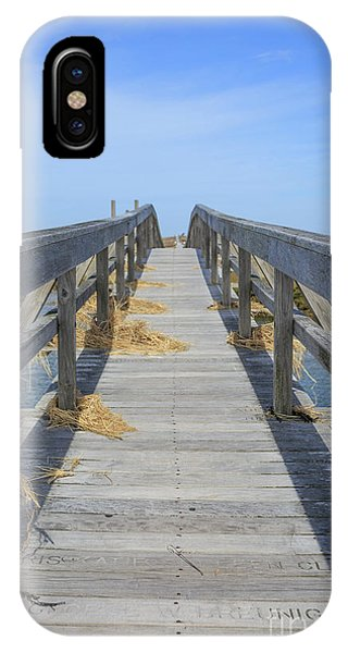 Tidal Marsh iPhone Case - Wooden Bridge Across The Dunes by Edward Fielding