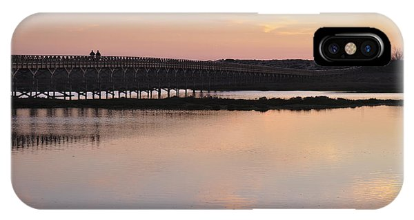 Wooden Bridge And Twilight IPhone Case
