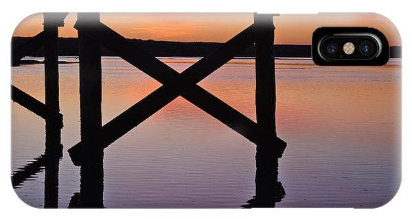 Wooden Bridge Silhouette At Dusk IPhone Case